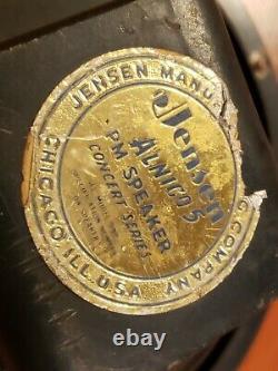 1957 Jensen P10r 10 Haut-parleur D'ampli Rare Vintage