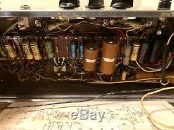 1960 Ampeg Portaflex Flip Top Vintage Tube Basse Ampli Combo Et Président De Nice Très
