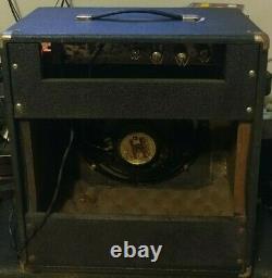 1960, C'est L'ampli De Guitare Lafayette Tube. Récemment Desservi. Des Tubes Anciens. Jensen Président