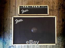 1962 Cru Aile Bassman Amp Head Et 1 X 15 Speaker Cabinet En Blanc Tolex