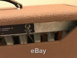 1962 Vintage Fender Brown Amplificateur Visage Modèle 6g5a Avec Reconed Oxford Président