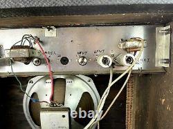 1964 Gibson Scout Tube Guitar Amplificateur Ga 17 Rvt Footpedal 10 Cts Speaker États-unis