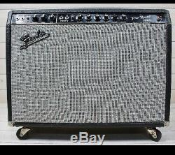 1965 Fender Pro Reverb Combo Blackface 2x12 Amp Avec Weber Haut-parleurs