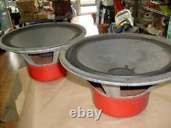1966 Cts Paire Red Vintage 12 Inch Speaker Woofer Pour Amplificateur De Guitare +