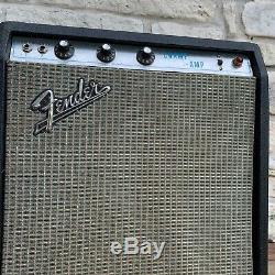 1969 Fender Champ Amp 100% Orig En 1x15 1970 Musicmaster Basse Cabine Avec 15 Président
