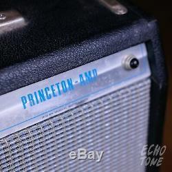 1969 Fender Princeton Vintage Guitar Amp (silverface, 12 Weber Président, 240v)