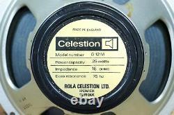 1970 Rola Celestion G12m Blackback 25-watt 16-ohm 12 Guitare Haut-parleur #t1221