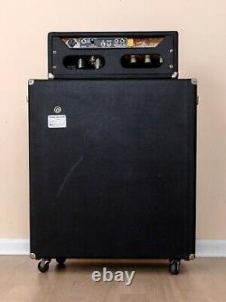 1973 Fender Bassman 50 Vintage Silverface Tube Amp Avec 2x15 Haut-parleur Cabinet