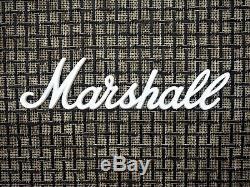 1973 Marshall 1960 Lead Basse 4x12 Président Cab Large White Check, Celestion G12m