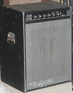 1973 Traynor Yba-4 1x15 Enceinte Ampli Combo Basse Tout Lampe Vintage S / N 4083371