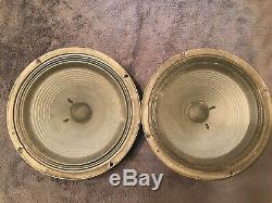1976 Vintage Celestion T1220 G12m 25w 8 Ohm 55 Hz Enceinte Quad Plie Rouge