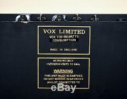 1981 Vox V15 Vintage 2x10 Tube Amplifier Uk-made El84 Avec Fane Haut-parleurs, Ac15