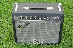1982 Fender Super Rivera Era Vainqueurs Tube W Amplifier Ev + Enceinte Pédale F785