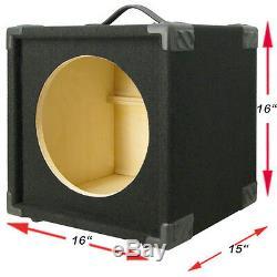 1x12 Basse Guitare Compacte Meuble Enceinte Vide Finition Moquette Noire Minibg112-bc