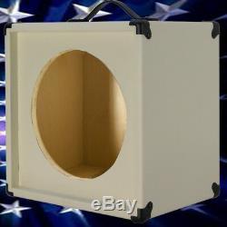 1x12 Extension De Haut-parleur Pour Guitare Vide Cabinet Blanc Ivoire Texture Tolex G1x12stwt