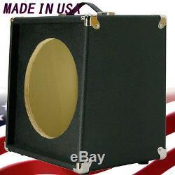 1x12 Extension De Haut-parleur Pour Guitare Vide Cabinet Bronco Blk Texture Tolex