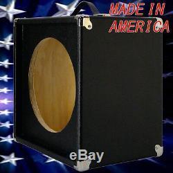 1x12 Guitar Extension Speaker Vider Cabinet Bronco Blk Texture Tolex G1x12stbbtl