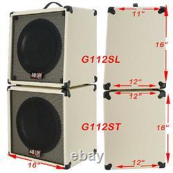 1x12 Guitar Haut-parleur Cabine Avec 8 Ohms Celestion G12p 70 80 Ivory White Tolex