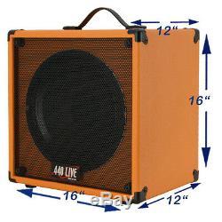 1x12 Guitar Speaker Cab Extension Avec 8 Ohms Celestion Vintage 30 Orange Tolex