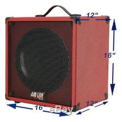 1x12 Guitar Speaker Cab Extension, With8 Ohm Celestion Billet Vert Tolex Blanc Ivoire