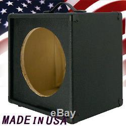 1x12 Guitar Speaker Extension Cabinet Vider Bronco Noir Tolex G112st Bbtlx