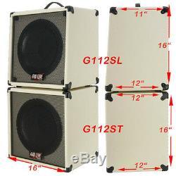 1x12 Guitar Speaker Extension Cabinet Vider Bronco Noir Tolex G1x12sl Bbtlx
