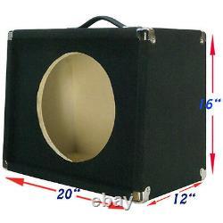 1x12 Guitar Speaker Extension Empty Cabinet Black Carpet Slant Front G11220slbc