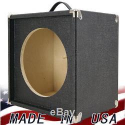 1x12 Guitar Speaker Extension Vide Peau Cabinet Noir Eléphant Terminer Tolex