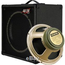 1x12 Haut-parleur Guitare Extension Cabine Avec 8 Ohms Celestion Greenback Ch Noir Tolex