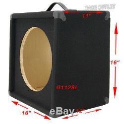 1x12 Videz Guitar Speaker Charbon Cabinet Noir Tapis Incliné Devant G1x12slbc