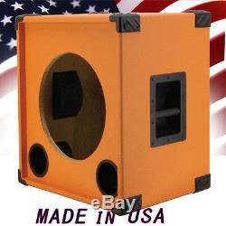 1x15 Vider Bass Guitar Speaker Cabinet Orange Tolex