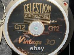 2 Celestion Vintage 30 12 Pouces 60 Watts Haut-parleurs De Guitare 16 Ohm