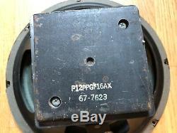 2 Vintage Eminence 12 1976 Enceintes Magnétiques Ampli Guitare 16 Ohms P12ppgf16ax