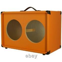 2x10 Guitar Speaker Vide Cabinet Bronco Orange Texture Tolex G2x10stbo