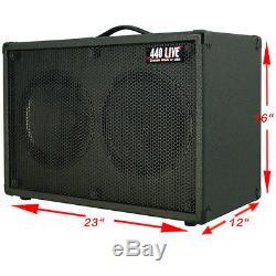 2x10 Guitar Spkr Cabinet Withcelestion G10 Haut-parleurs Noir Anthracite Tolex G2x10st