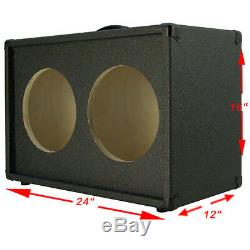 2x10 Haut-parleur Guitare Vide Cabinet Charbon Noir Texture Tolex G2x10st