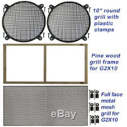 2x10 Vertical Guitar Speaker Vider Cabinet Noir Anthracite Tolex