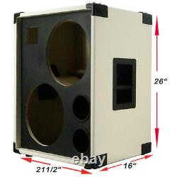 2x12 Avec Tweeter Empty Bass Guitar Speaker Cabinet Fire Red Tolex Bg2x12htfhrbf