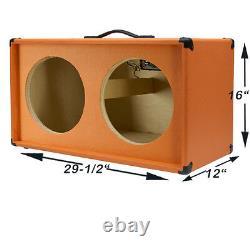 2x12 Guitar Haut-parleur Vide Cabinet Feu Rouge Chaud Tolex Strait Forme Avant