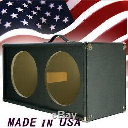 2x12 Guitar Président Vide Cabinet Bronco Noir Tolex Détroit Forme Avant G2x12st
