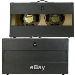 2x12 Guitar Speaker Cabinet Withcelestion Greenback Haut-parleurs Noir Anthracite Tolex