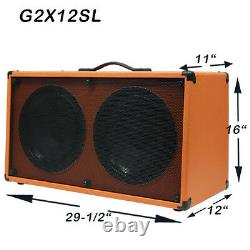 2x12 Guitar Spkr Cabinet Charbon Noir Tolex Sans Tolex Rocket 50 Haut-parleurs