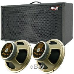 2x12 Guitar Spkr Cabinet Charcoal Black Tolex Withcelestion Vintage 30 Haut-parleurs