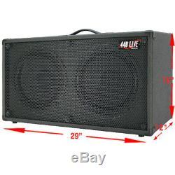 2x12 Guitare Spkr Cabinet Noir Anthracite Tolex Withcelestion Rocket 50 Haut-parleurs