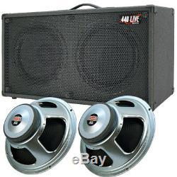 2x12 Guitare Spkr Cabinet Noir Anthracite Tolex Withcelestion Soixante-dix Haut-parleurs 80
