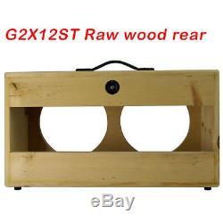 2x12 Pin Massif, Extension De Bois Brut Haut-parleur Pour Guitare Meuble Vide G2x12st Rw