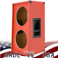 2x12 Vertical Slanted Guitar Speaker Cabinet Empty Fire Hot Red G2x12vsl