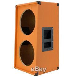 2x12 Verticale Slanted Guitare Enceinte Vide Beauté Orange G2x12vsl