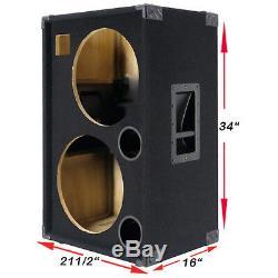 2x15 Avec Enceinte Vide Pour Guitare Basse Tweeter Black Carpet Bg2x15htbc