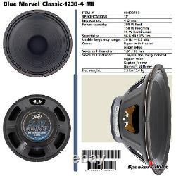 4-pack Peavey Blue Marvel Classic-1238-4 Ohm Haut-parleur De Guitare Eminence Made In USA